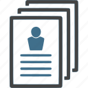 cv, document, hr, person, recruitment, resume, work