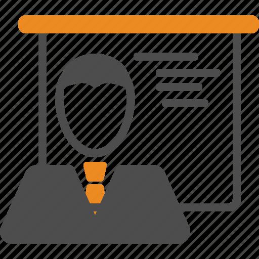 business, presentation, statistics, training icon