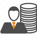 business, coin, money icon