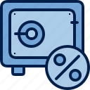 accumulation, business, finance, profit, reliability, safe, safety icon