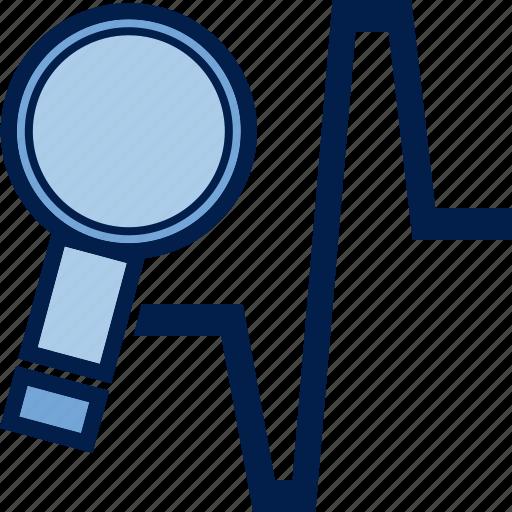 business, chart, diagram, finance, schedule, statistics, zoom icon