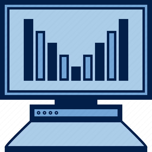 business, chart, computer, diagram, pc, schedule, statistics icon