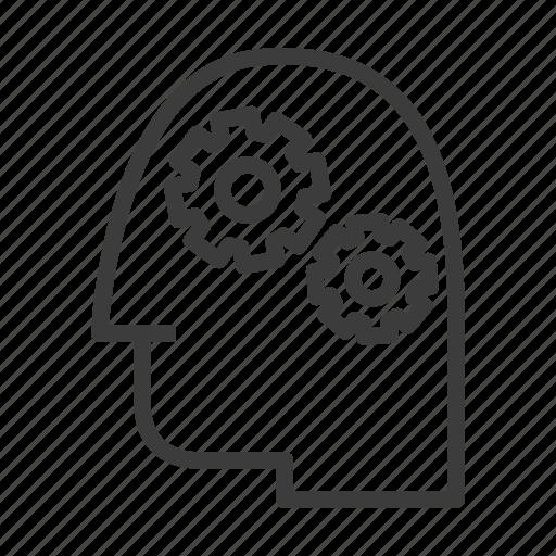 brain, gear, mind, mindset, thinking, thought icon