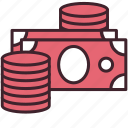 banking, cash, coin, currency, finance, money, payment icon
