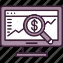 analytics, computer, internet, market, report, research, statistics icon