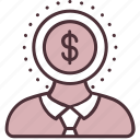 business, client, finance, importance, manager, money, value icon