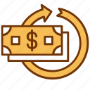 business, cash, cycle, finance, flow, income, money icon