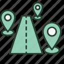 address, branch, company, international, location, office, road icon