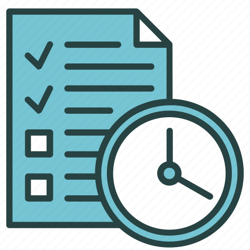 brief, business, clock, deadline, management, project, time icon