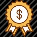 achievement, award, badge, business, financial, reward, success icon