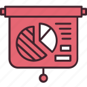 analytics, business, diagram, graph, information, presentation, report icon