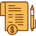 contract, document, finance, invoice, payment, pen, sign