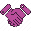 agreement, business, collaboration, cooperation, deal, handshake, partnership icon