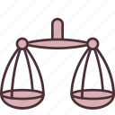 balance, justice, law, measurement, scale, scales, weight icon