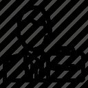 avatar, briefcase, businessman, salesman icon