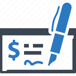bank check, ecommerce, finance, payment icon