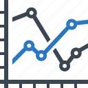 analytics, chart, finance report, line graph, statistics icon