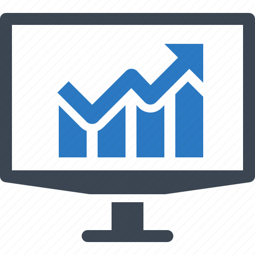 bar graph, chart, financial report, statistics, web analytics icon