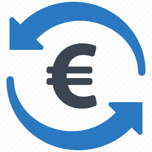 euro, exchange rate, finance, transfer money icon