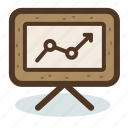 analysis, analytics, board, chart, marketing, results, statistic icon