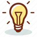 bulb, charge, creative, idea, light, lightbulb, power icon