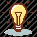 lightbulb, power, light, idea, creative, bulb, charge