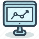 analytics, chart, computer, diagram, marketing, results, statistic icon