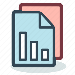 analytics, diagram, document, files, marketing, results, statistic icon
