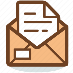 email, envelope, inbox, letter, mail, message, opened icon