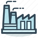 building, corporation, factory, industry, plant icon