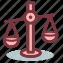 balance, justice, law, libra icon
