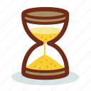 clock, sand, sandglass, schedule, time, watch icon