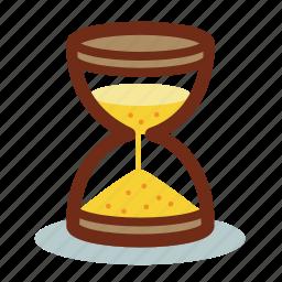 clock, sand, sandglass, schedule, time, watch icon
