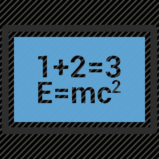 alphabet, blackboard, education icon
