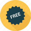free, price, shopping, sticker icon