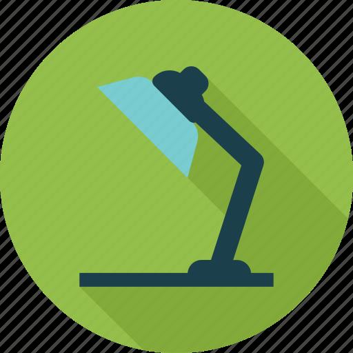 desk, lamp, light, reading icon