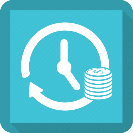 dollar, history, time, timer icon