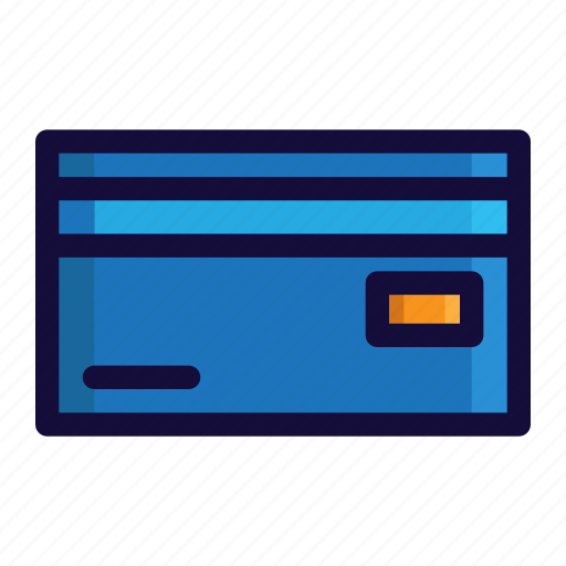 bussiness, card, color, credit card, finance, lineal icon