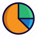 bussiness, chart, color, finance, lineal, pie chart icon