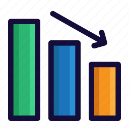 bar chart, bussiness, chart, color, finance, lineal, traffic icon