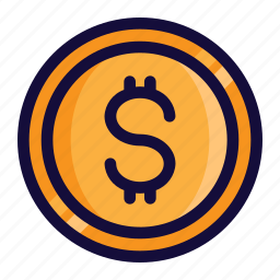 bussiness, color, currency, dollar, finance, lineal, money icon