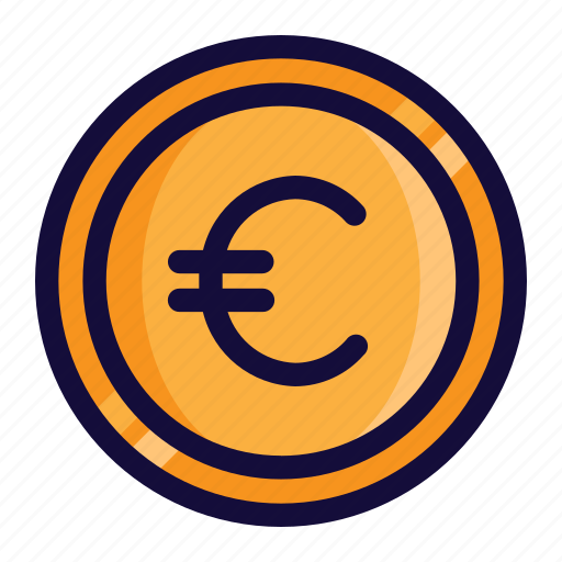 bussiness, color, currency, euro, finance, lineal, money icon