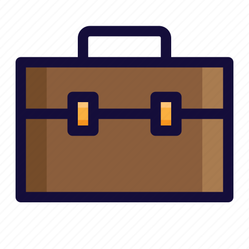 bag, briefcase, bussiness, case, color, finance, lineal icon
