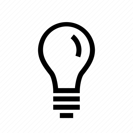 brainstoorming, bulb, light bulb, thining, unsolved icon