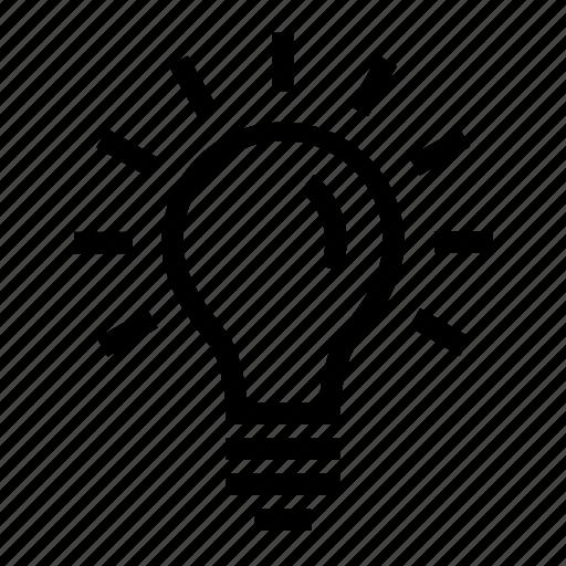 bulb, idea, innovation, light bulb, resolution, solution, thinking icon