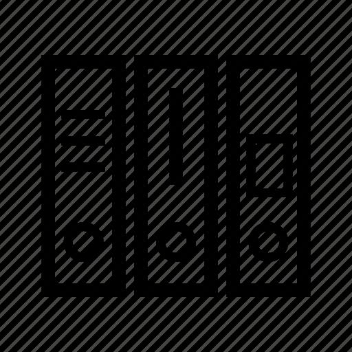 case binder, file, file folder, folders, formatters, office, ring binder icon