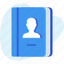 address book, business, contact, contacts, phonebook icon