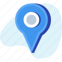 location, navigation, pin, position icon