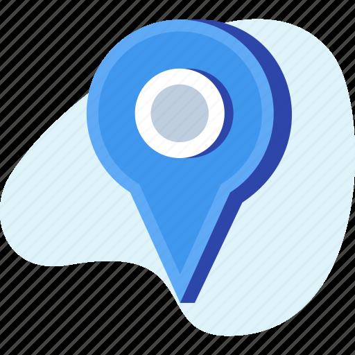 location, navigation, pin, position icon