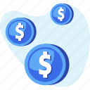coin, dollar, finance, money, savings icon